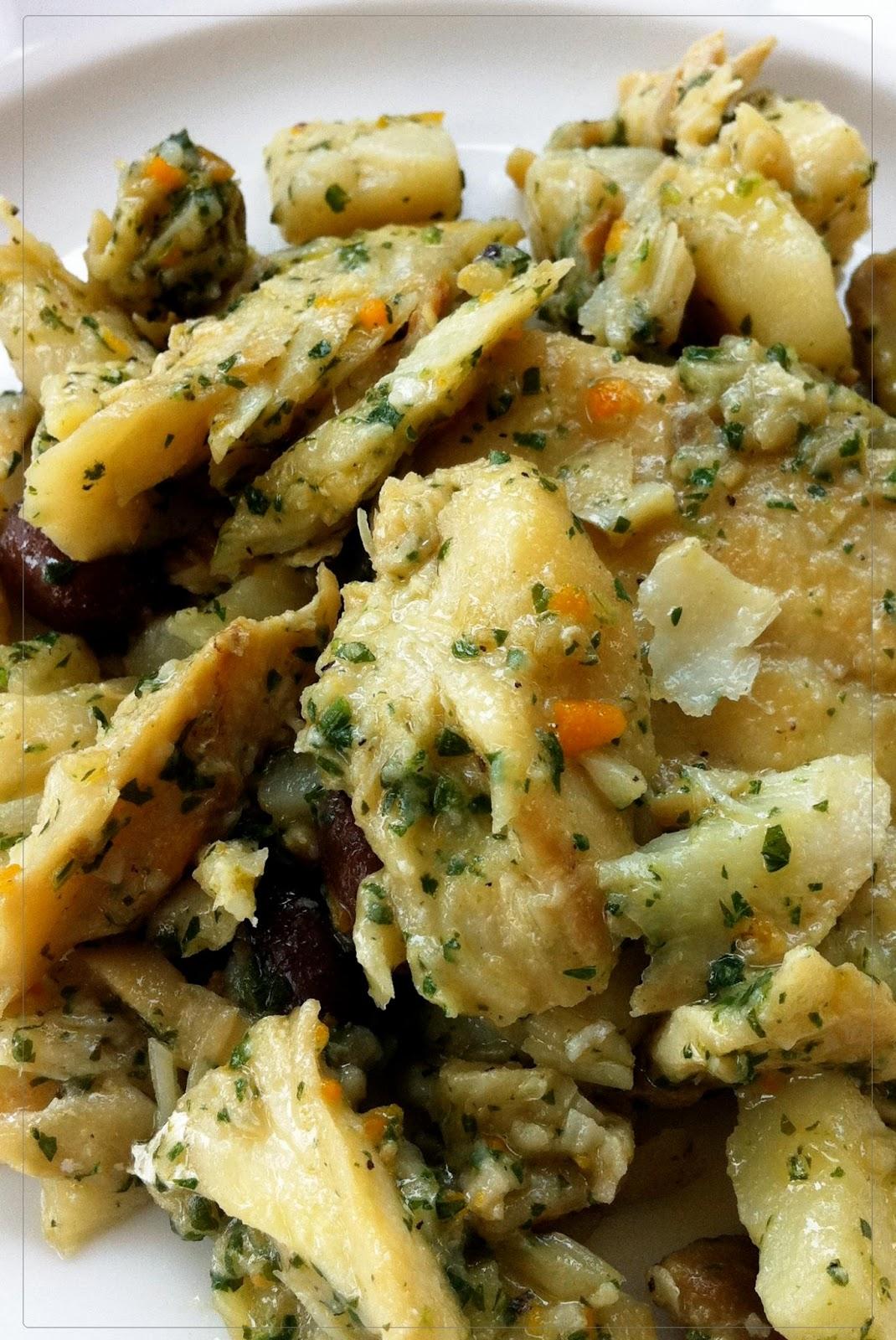 Baccalà al verde con patate