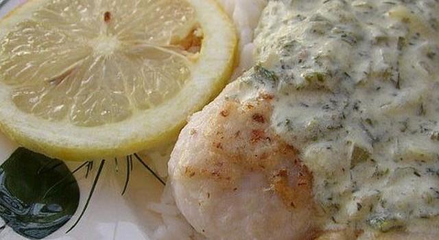 Nasello con salsa al limone ed erbe