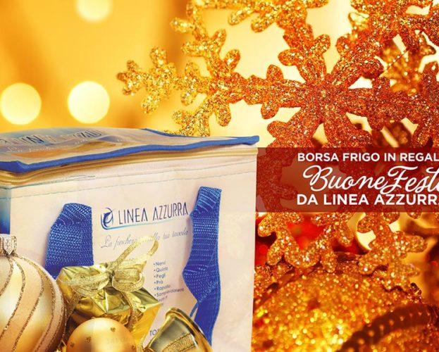 Linea Azzurra a Natale vi regala la borsa frigo!